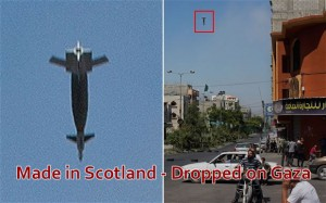 made in Scotland - dropped on Gaza